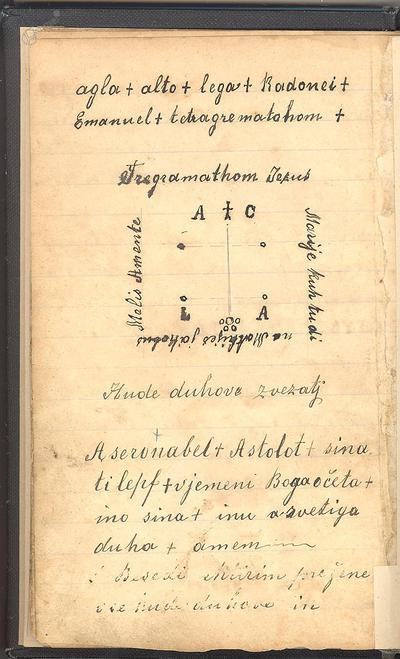 Kolomonov žegen - skica Tetragramatona