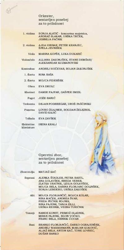 Operetni list operete Melodije srca
