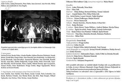 Operetni list operete Grofica Marica