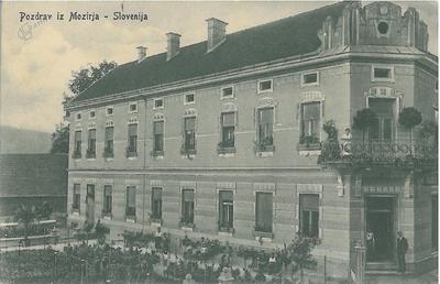Pevčeva hiša v Mozirju okoli leta 1930
