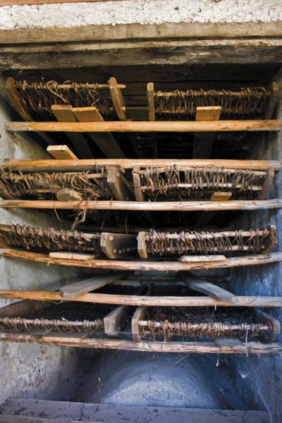 Notranjost Komarjeve sušilnice