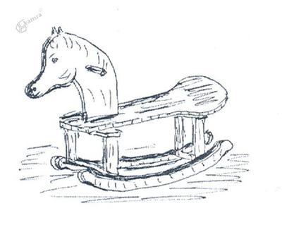 Leseni gugalni konjiček
