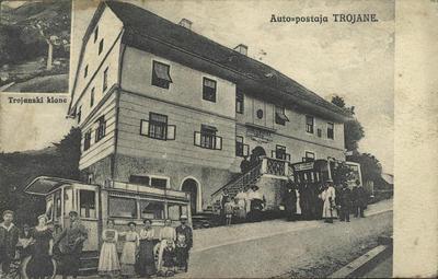 Auto postaja Trojane, ok. 1913