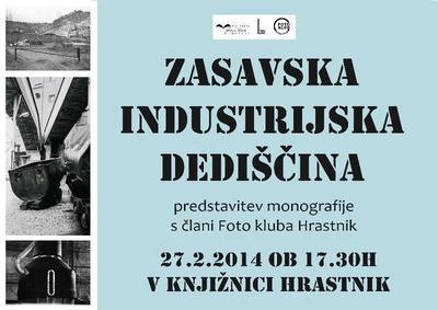 Plakat za prireditev Zasavska industrijska dediščina