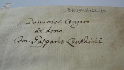 Posvetilo v knjigi Tentamen genealogico-chronologicum
