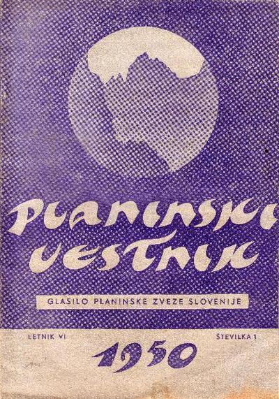 Planinski vestnik iz leta 1950
