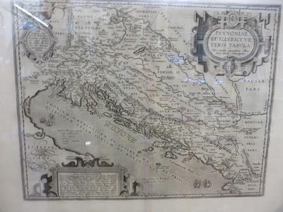 Pannoniae et Illyrici veteris tabvla, 1572