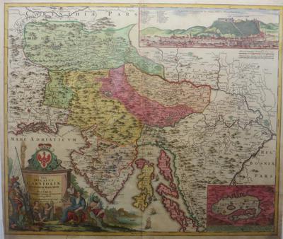 Tabula Ducatus Carnioliae, Vindorum Marchiae et Histriae, 1720