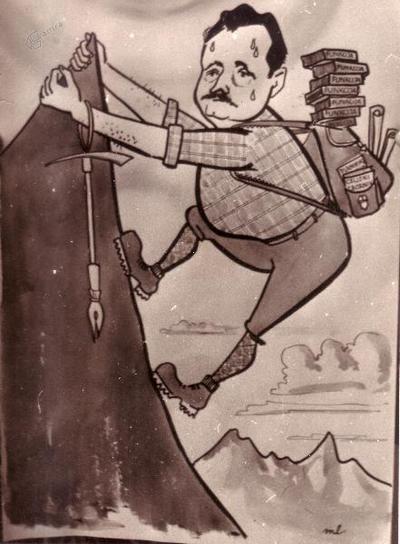 Tine Orel, karikatura