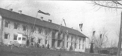 Tovarna šivalnih strojev Mirna leta 1959