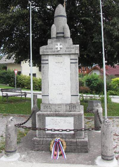 Spomenik padlim v prvi sv. vojni v Zgornjih Gorjah