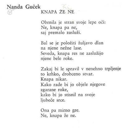 Nanda Guček: Knapa pa že ne - pesem