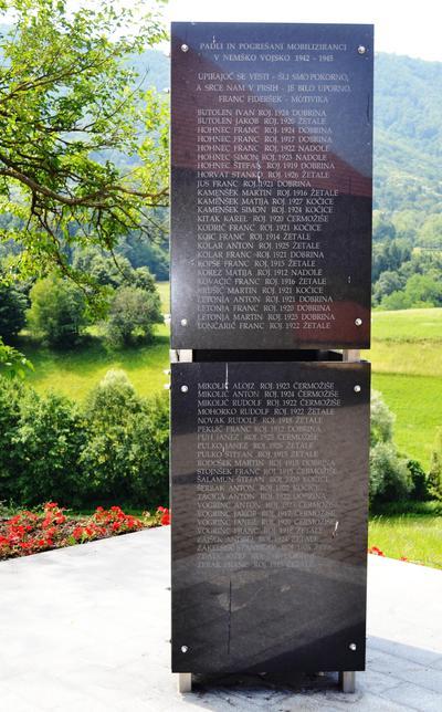 Spominsko obeležje v Žetalah - mobilizirani v nemško vojsko