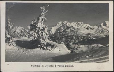 Planjava in Ojstrica z Velike planine