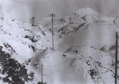 Trasa žičnice zahodno od Bogatinskega sedla