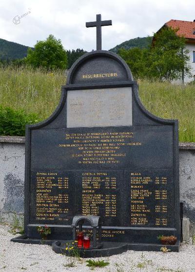 Spomenik v Javorjah