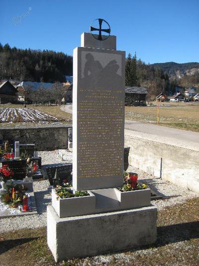 Spomenik na Koprivniku v Bohinju