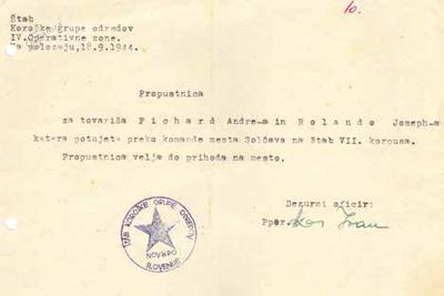 Dovolilnici z navodili za pomoč zavezniškim vojakom