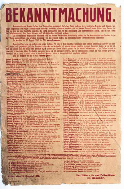 Nemški razglas o streljanju talcev
