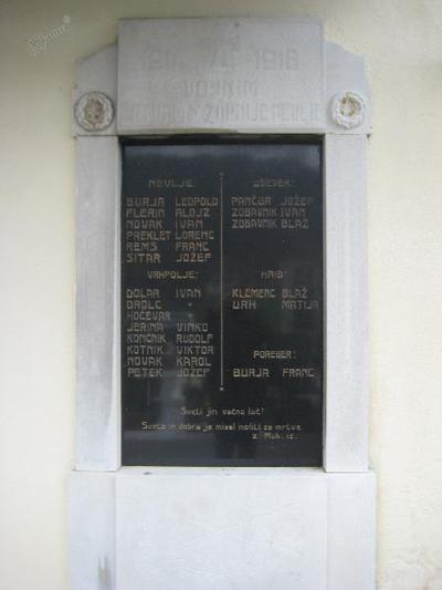Spominska plošča v Nevljah