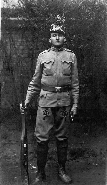 Karel Varga kot vojak 83. ces. - kralj. peh. polka