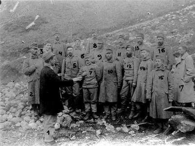Franc Zupančič na planini Golobar - pevski zbor