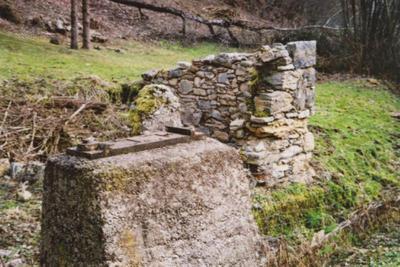 Ostanki temeljev Šraufkovega mlina in žage