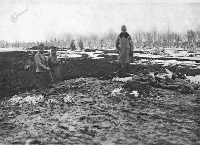 Vojaško pokopališče v Mahali (BiH), nov. ali dec. 1914