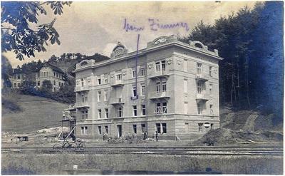 Železničarski dom leta 1914