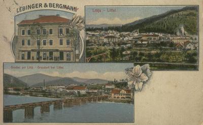 Leseni most na razglednici iz leta 1914