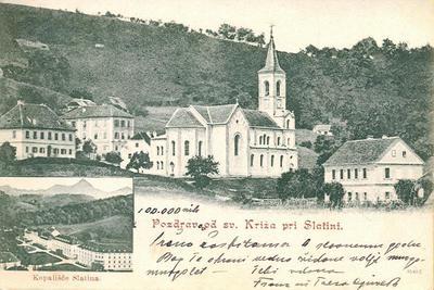 Pozdrav od Sv. Križa pri Slatini (1901)