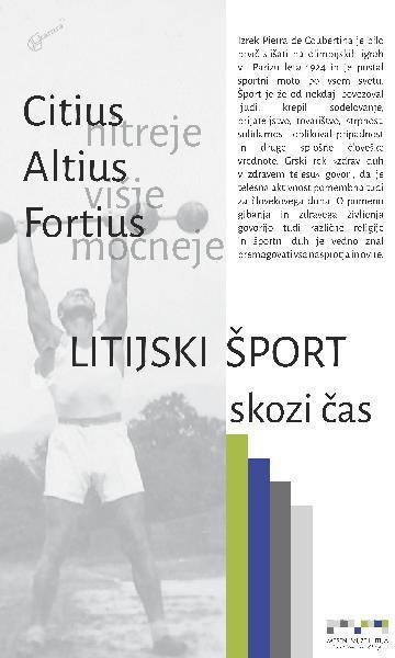 Naslovnica razstave Litijski šport skozi čas