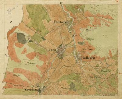 Šentvid, današnji Podnanos, na mapi franciscejskega katastra