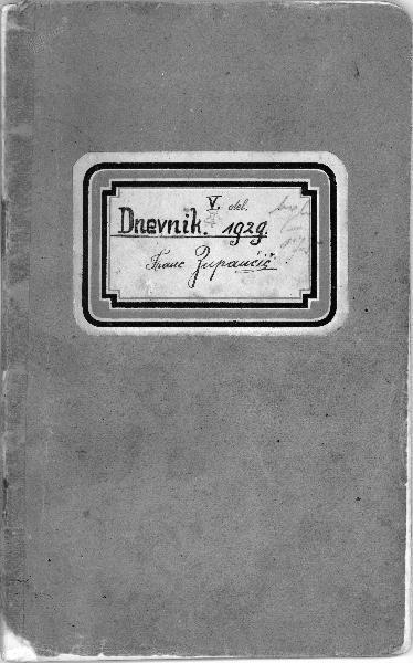 Dnevnik Franca Zupančiča (1929)