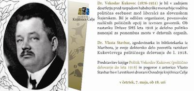 Vabilo na domoznanski večer o Vekoslavu Kukovcu
