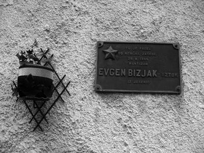 Spominsko obeležje padlemu Evgenu Bizjaku - Iztoku