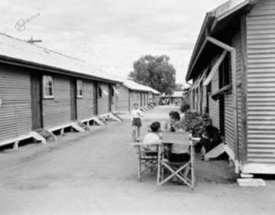Begunsko taborišče v Bonegilli, Viktorija, Avstralija,