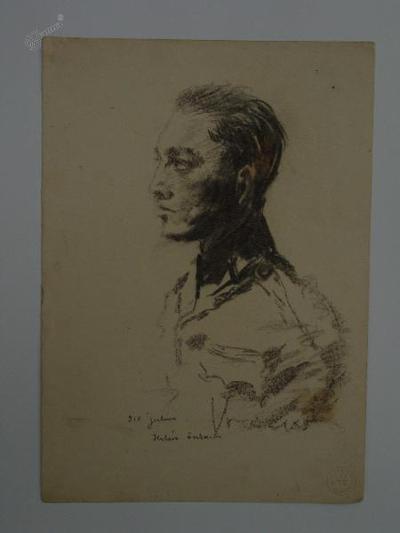 Skica - portet vojaka