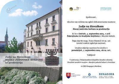 Vabilo: Judje na Slovaškem