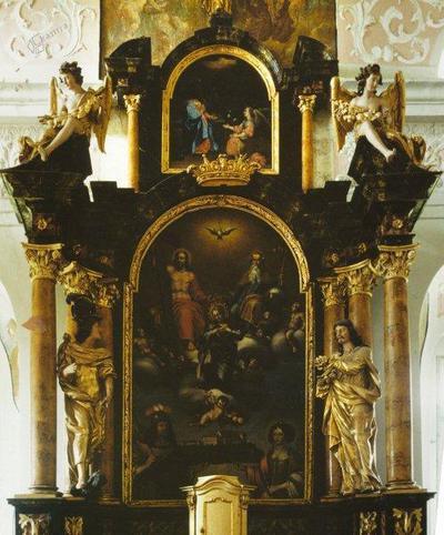 Oltarna slika Marijinega kronanja z Borla ok. 1680