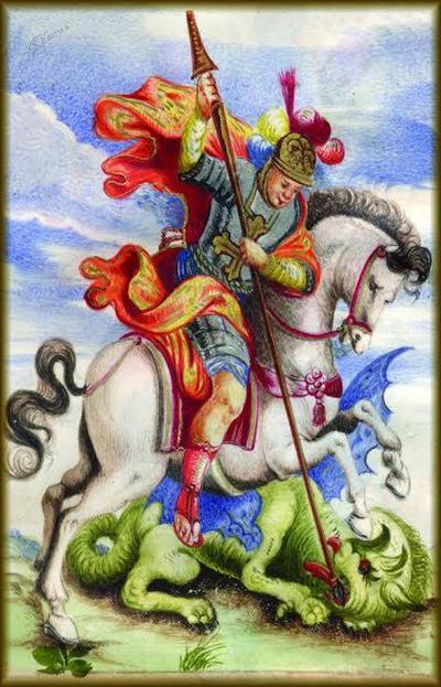 Sveti Jurij : z lekarniške diplome Pirančana Nicolòja Fonde