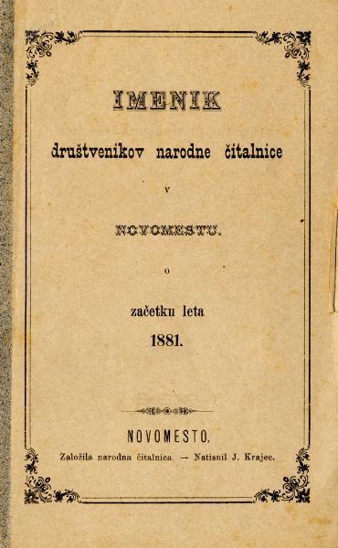 Imenik društvenikov Narodne čitalnice
