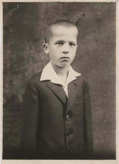 Ivo Arhar - osnovnošolec, ok. 1925