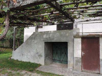 Podškalska zidanica, vhod