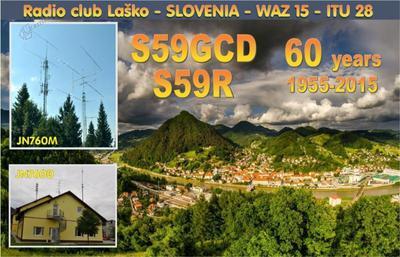 Vabilo na razstavo ob 60-letnici Radio kluba Laško