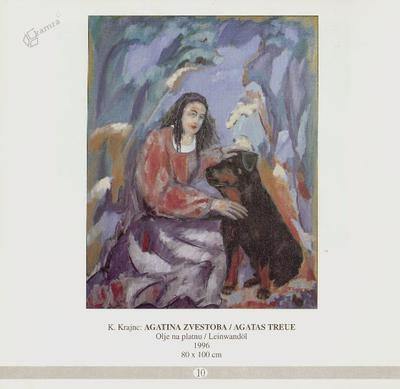 Agatina zvestoba, olje na platnu - 1996, 80 x 100 cm