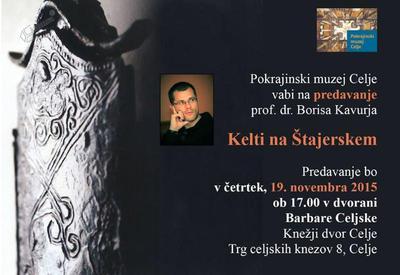 Vabilo na predavanje  Kelti na Štajerskem