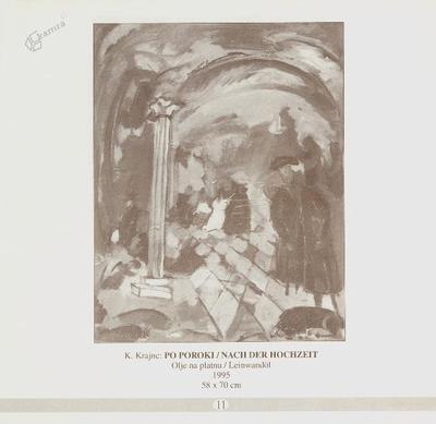 Po poroki, olje na platnu - 1995, 58 x 70 cm