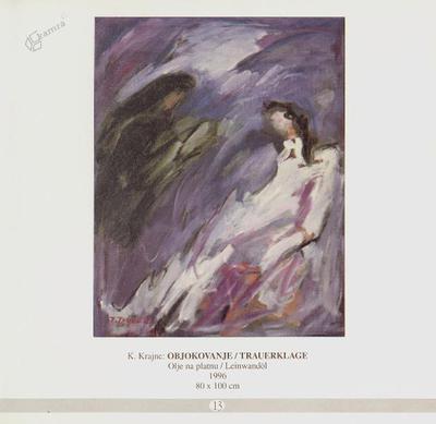 Objokovanje, olje na platnu - 1996, 80 x 100 cm