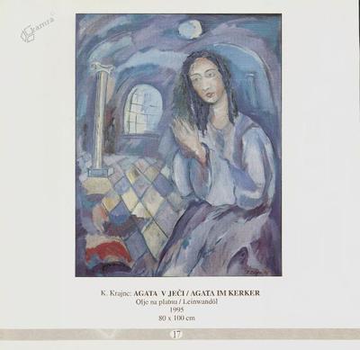 Agata v ječi, olje na platnu - 1995, 80 x 100 cm